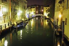 Venedig nachts Lizenzfreie Stockbilder
