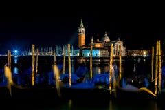 Venedig nachts Lizenzfreie Stockfotos