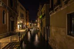 Venedig nachts Italien Lizenzfreies Stockfoto