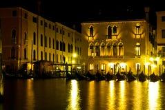 Venedig, Nachtszene Lizenzfreies Stockbild