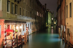 Venedig nattplats arkivbild