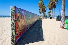 Venedig offentliga konstväggar Arkivbilder