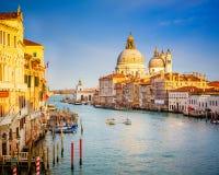 Venedig på den soliga aftonen Fotografering för Bildbyråer