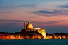 Venedig på solnedgången Royaltyfria Foton