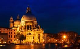 Venedig på solnedgången Arkivfoton