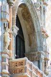 Venedig, Palazzo Ducale, Detail des Balcon stockbilder