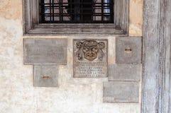 Venedig Palazzo Ducale detalj Arkivbilder