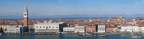 Venedig - panorama Royaltyfria Foton