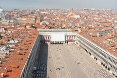 Venedig panoramautsikt Arkivfoton