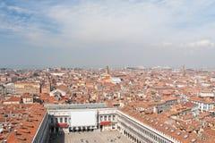 Venedig panoramautsikt Arkivfoto