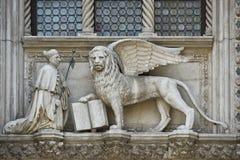 Venedig - Porta della Carta Arkivbilder