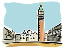 Venedig (Quadrat der Str.-Markierung) Lizenzfreies Stockfoto