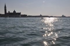 Venedig San Giorgio Arkivbilder