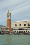 Venedig, San Marco gesehen vom Kanal stockbilder