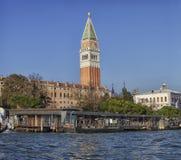 Venedig San Marco Tower Arkivbilder