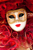 Venedig-Schablone, Karneval. Lizenzfreies Stockbild