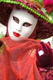 Venedig-Schablone, Karneval. Stockbild