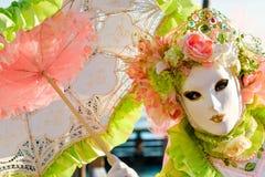 Venedig-Schablone, Karneval. Stockfoto
