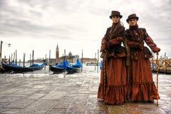 Venedig-Schablone, Karneval. Lizenzfreies Stockfoto