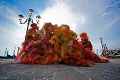 Venedig-Schablonen, Karneval. Lizenzfreie Stockfotos