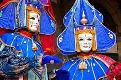 Venedig-Schablonen, Karneval. Lizenzfreies Stockbild