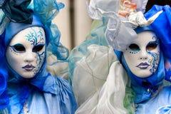 Venedig-Schablonen, Karneval. Stockfotos