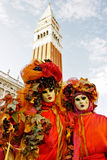 Venedig-Schablonen, Karneval. Lizenzfreies Stockfoto