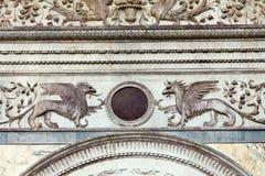 Venedig - Scuolaen Stor di San Marco Royaltyfri Foto