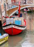 Venedig Set vektorikonen von den leuchtenden Zeilen auf einem schwarzen Hintergrund Stockfotografie