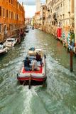 Venedig Set vektorikonen von den leuchtenden Zeilen auf einem schwarzen Hintergrund Lizenzfreies Stockbild