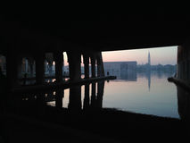 Venedig sikt från Arsenale Fotografering för Bildbyråer