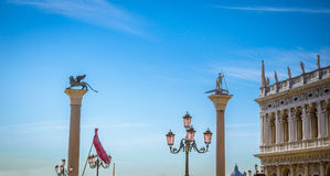 Venedig sikt på den San Marco fyrkanten, Venedig, Veneto, Italien Arkivfoto