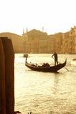 Venedig solnedgång arkivfoto