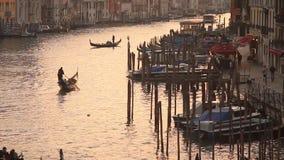 Venedig solnedgång stock video