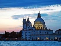 Venedig: solnedgång arkivbild