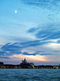 Venedig: solnedgång fotografering för bildbyråer