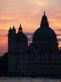 Venedig: solnedgång arkivfoton