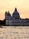 Venedig: solnedgång royaltyfri fotografi