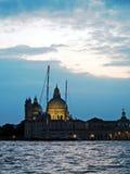 Venedig: solnedgång arkivfoto