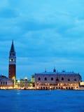 Venedig: solnedgång royaltyfri bild