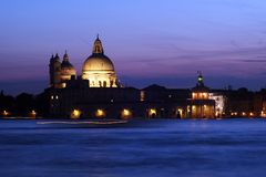 Venedig - solnedgång fotografering för bildbyråer