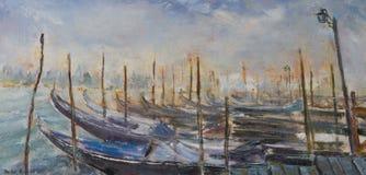 Venedig som målar Arkivfoto