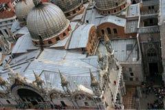 Venedig som ses från över Arkivfoto