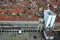 Venedig som ses från ovanför 3 Arkivbilder
