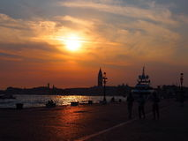 Venedig am Sonnenuntergang Lizenzfreie Stockfotos