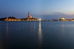 Venedig am Sonnenuntergang Stockbilder