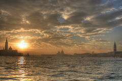 Venedig-Sonnenuntergang, hdr Stockbild