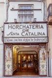 Venedig Spanien - December 02, 2016: Horchateria de Santa Catalina Royaltyfri Foto