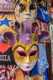 Venedig stad av Italien Triditional Venetian karnevalmaskeringar Royaltyfri Bild