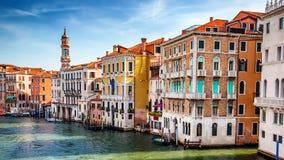 Venedig stad på sommar Italien Europa arkivbild
